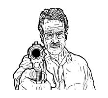 Breaking Bad - Walter White (No Colour) Photographic Print