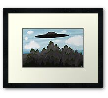 The Unwanted U.F.O. Framed Print
