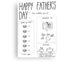 father's day Canvas Print