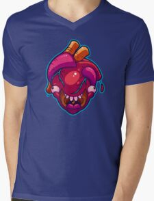 Happy Heart Mens V-Neck T-Shirt