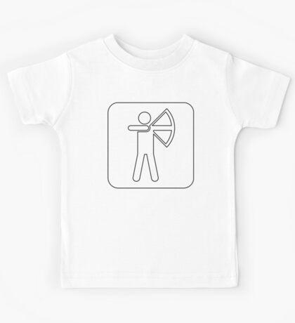 Recreational Archery Sign Symbol .  Kids Tee
