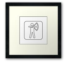 Recreational Archery Sign Symbol .  Framed Print