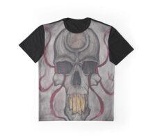 Skull and Ribbons Graphic T-Shirt
