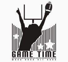 Game Time - Football (Orange) One Piece - Short Sleeve