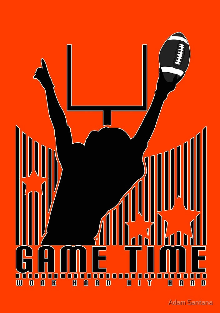 Game Time - Football (Orange) by Adamzworld