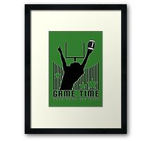 Game Time - Football (Green) Framed Print
