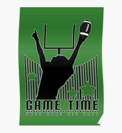 Game Time - Football (Green) Poster