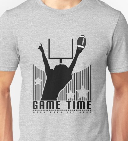 Game Time - Football (Grey) Unisex T-Shirt