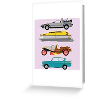 The Car's The Star: Flying Cars Greeting Card