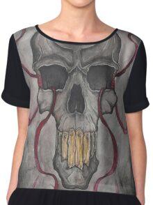 Skull and Ribbons Women's Chiffon Top