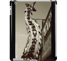 Neon Sign Monochrome iPad Case/Skin