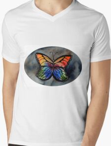 Mariposa Butterfly Mens V-Neck T-Shirt