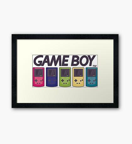 GAMEBOY COLOR Framed Print