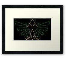 °GEEK° Triforce Neon Framed Print