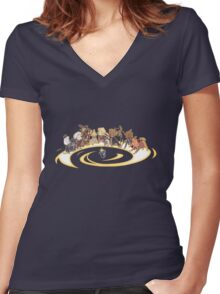 dogster who  Women's Fitted V-Neck T-Shirt