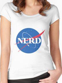 NERD - Nasa Logo Women's Fitted Scoop T-Shirt