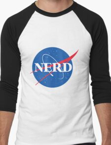 NERD - Nasa Logo Men's Baseball ¾ T-Shirt