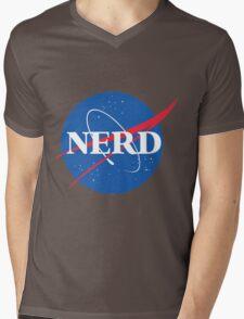 NERD - Nasa Logo Mens V-Neck T-Shirt