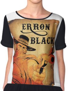 Wanted- Erron Black Chiffon Top