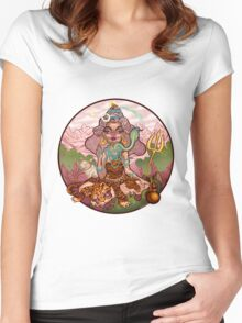 A Funky Female Shiva Women's Fitted Scoop T-Shirt