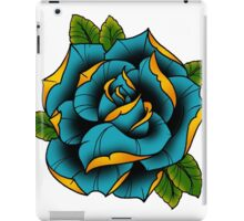Neotraditional Rose in Blue iPad Case/Skin
