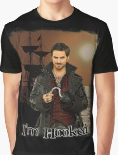 "Captain Hook ""I'm Hooked"" Comic Design Graphic T-Shirt"