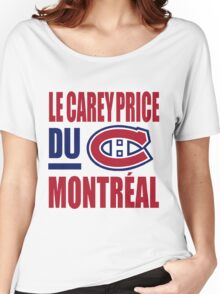 Le Carey Price du Montreal Women's Relaxed Fit T-Shirt
