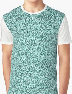 Aqua Animal Print Sparkle Graphic T-Shirt