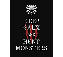 KEEP CALM AND HUNT MONSTERS - The Witcher t-shirt / Phone case / Mug Photographic Print