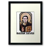 baltar saves Framed Print