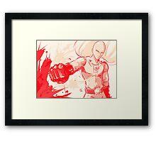 Sensei Saitama Framed Print