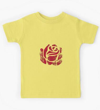 red rose stamp Kids Tee