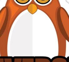 Penguin University - Brown 2 Sticker