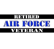 Retired Air Force Veteran Photographic Print