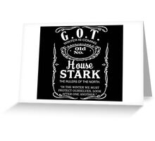 House Stark Whiskey Greeting Card