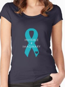 Invisible Not Imaginary - Turquoise Women's Fitted Scoop T-Shirt