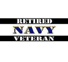 Retired Navy Veteran Photographic Print