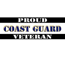 Proud Coast Guard Veteran Photographic Print