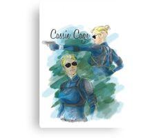 cassie cage -white bkg- Canvas Print