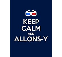 Keep calm and allons-y Photographic Print