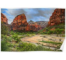 USA. Utah. Zion National Park. Valley. Poster