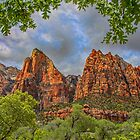 USA. Utah. Zion National Park. Patriarchs. by vadim19