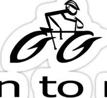 Push Bike - Born to Ride T-Shirt Sticker