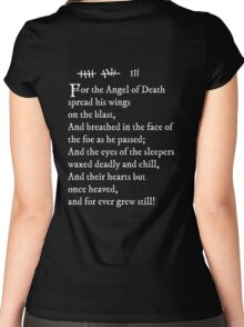 Archer - Pam's tattoo  (Lord Byron poem) - white text Women's Fitted Scoop T-Shirt