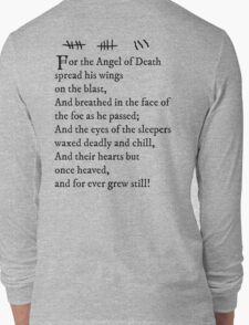 Archer - Pam's tattoo (Lord Byron poem) - black text Long Sleeve T-Shirt