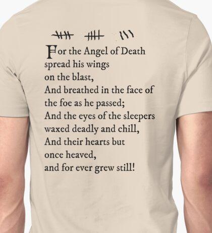 Archer - Pam's tattoo (Lord Byron poem) - black text Unisex T-Shirt