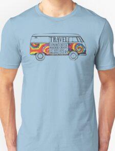 TIE DYE ADVENTURE BUS Unisex T-Shirt