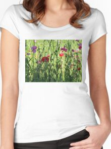 Floral Beauty Women's Fitted Scoop T-Shirt