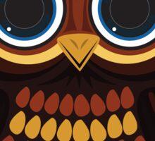 Friendly Owl - Dark Red Sticker