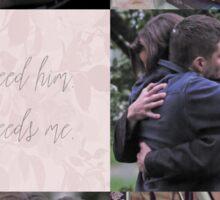 Sam & Dean + petals Sticker
